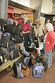 Canada, Montreal, Gare Centrale, Central Train Station, schedule, ticketing, porter, luggage cart, passengers