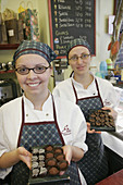 Canada, Quebec City, Rue Saint Jean, Erico Choco Musee, chocolate dessert store, smiling employees, candy