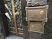 Evita's grave (Evita Peron) in La Recoleta Cemetery in Buenos Aires, Argentina