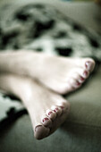 Adult, Adults, Barefeet, Barefoot, Carnal, Carnality, Chill out, Chilling out, Close up, Close-up, Closeup, Color, Colour, Comfort, Comfortable, Contemporary, detail, details, Feet, Female, female, Foot, human, indoor, indoors, interior, male, man, men, N