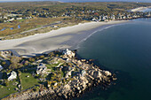 Aerial views of Good Harbor beach, Gloucester, MA, USA