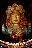 Maitreya future Buddha, Tikse Monastery, Ladakh