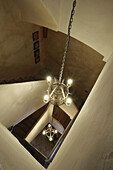 Ancient, Antique, Architecture, Color, Colour, Decoration, Elegance, Elegant, Floor, Floors, From above, Hang, Hanging, House, Houses, Illuminated, Illumination, Indoor, Indoors, Interior, Lighting, Nobody, Perspective, Rustic, Staircase, Stairs, Steps, S
