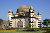 Gol Gumbaz is the mausoleum of Muhammad Adil Shah II (1627-57), one of the major Islamic monuments of India, Bijapur, Karnataka.  Gol Gumbaj, literally means the round dome, is the tomb of Mohammed Adil Shah (1627-56 AD), the 7th ruler of this dynasty.