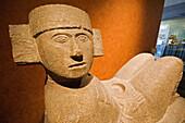 Chac-Mool (Mayan Rain God) statue, Maya civilization. National Museum of Anthropology, Mexico D.F. Mexico.