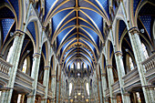 Cathedral and Basilica of Notre Dame (1839-1885). It stands on the site that was occupied by the first Catholic chapel. City of Ottawa (federal capital). Ontario Province. Canada.