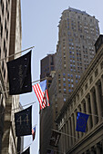 Buildings at Wall Street, Manhattan, New York City, New York, USA