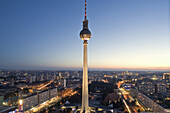 Television Tower in the evening, Berlin, Germany