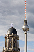 TV tower Berlin, Alexanderplatz, and the Stadthaus, Berlin, Germany