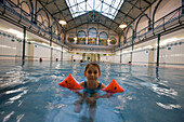 young swimmer, Stadtbad Charlottenburg, City baths, swimming pool, Berlin, Germany