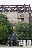 Marx-Engels-Forum near Palace of the Republic, Berlin, Germany