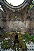 remains of a tomb in the Bergmannstraße cemetery, Berlin, Germany