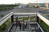 on the roof terrace of Representation of the State of Rheinland Pfalz in Berlin, opposite the Memorial to the Murdered Jews of Europe, Berlin, Germany