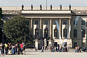 View at the entrance of the Humboldt university, Berlin, Germany, Europe