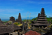 Besakih, the balinese main temple under blue sky, Bali, Indonesia, Asia