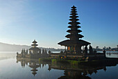 Ulu Watu Danu Bratan, temple on an island at Bratan lake, Bali, Indonesia, Asia