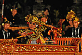 Gamelan Orchestra playing at Legong dance at Matahari Hotel, Pemuteran, North Bali, Indonesia, Asia