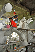 Sculptors at work, Ubud, Bali, Indonesia, Asia