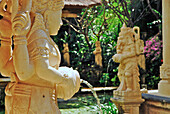 Balinese statues at the garden of the Matahari Hotel, Pemuteran, Bali, Indonesia, Asia