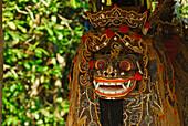 Lions mask, Barong mask, Taman Ayun, Mengwi, South Bali, Indonesia, Asia