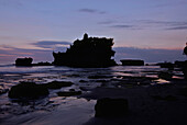 Temple Tanah Lot at the coast at sunset, South Bali, Indonesia, Asia