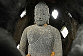 Buddha figure at Brahma-Asrama-Vihara temple, Banjar, North Bali, Indonesia, Asia