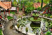 View at fountain at Brahma-Asrama-Vihara temple, Banjar village, North Bali, Indonesia, Asia