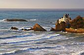 Villa Belza in Biarritz, Cote d'Argent, Voie du littoral, Coastal path, The Way of Saint James, Road to Santiago, Chemins de Saint-Jacques, Dept. Pyréneés-Atlantiques, Région Aquitaine, France, Europe