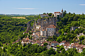 View of Rocamadour, The Way of St. James, Roads to Santiago, Chemins de Saint-Jacques, Via Podiensis, Dept. Lot, Région Midi-Pyrénées, France, Europe