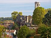 Ruin of Abbey Church Notre-Dame de la Sauve, The Way of Saint James, Chemins de Saint Jacques, Via Turonensis, La Sauve-Majeure, Dept. Gironde, Région Aquitaine, France, Europe