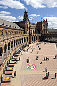 Andalucia, Andalusia, Arch, Arches, Architecture, Building, Buildings, Capitanía General, Castle, Castles, cities, city, Color, Colour, Daytime, Europe, exterior, Military Headquarters, outdoor, outdoors, outside, Palace, Palaces, Palacio Central, Parque