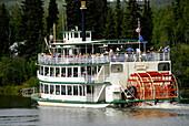 Riverboat Discovery sternwheeler on Chena and Tanana Rivers Fairbanks Alaska Alaska Highway ALCAN Al-Can AK concession excursion tour tourist