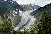 Toe of Salmon Glacier Stewart British Columbia BC Canada near Hyder Alaska AK US United States