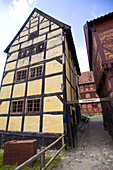Old houses in the Den Gamble By (traditional architecture museum). Aarhus. Jutland. Denmark.