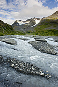Glacial stream at Thompson Pass, Chugach Mountains, Alaska, USA