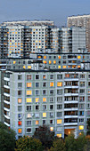 Balconies, Balcony, Building, Buildings, Cities, City, Cityscape, Cityscapes, Close up, Close-up, Closeup, Color, Colour, Condominium, Condominiums, Daytime, Europe, Exterior, Housing, Lights, Moscow, Outdoor, Outdoors, Outside, Russia, Travel, Travels, T