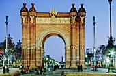 Triumphal Arch (Arc de Triomf) by Josep Vilaseca i Casanovas (1888) for the universal exposition of Barcelona. Catalunya. Spain