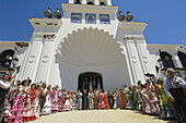 Romería' (pilgrimage) to El Rocío. Almonte, Huelva province, Andalucia, Spain