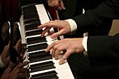 Aktivität, Detail, Details, Eine Person, Eins, Einzeln, einzig, Erwachsene, Erwachsener, Farbe, Fertigkeit, Geschick, Geschicklichkeit, Hand, Hände, Innen, Instrument, Instrumente, Klavier, Klaviere, Klavierspieler, Kunst, Mann, Männer, Männlich, Mensch,