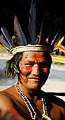 Indigenous man. Amazon. Brazil.