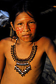 Indigenous child. Amazon. Brazil.