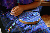 Woman waeving, San Antonio Palopo. Guatemala
