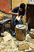 Sculptor at work, Guatemala