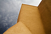 Abstract, Adobe, America, Ancient, Asis, Cathedral, Church, Cloud, Color, Colour, Franciso, New Mexico, Pueble, San, Southwest, Storm, Taos, United states, Usa, Worship, S19-656862, agefotostock
