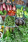 Vegetable stall, market, Thong Sala, Ko Pha Ngan, Thailand