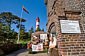 Lighthouse keeper, Nebel, Amrum island, North Frisian Islands, Schleswig-Holstein, Germany