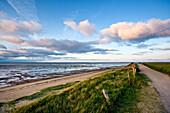 View over Wadden Sea, Amrum island, North Frisian Islands, Schleswig-Holstein, Germany