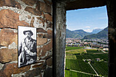 Photographs of deceased mountaineers, Inside Messner Mountain Museum Firmian, MMM, Sigmundskron Castle, Reinhold Messner, Bolzano, South Tyrol, Italy