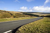 The hills and roads of Wales, Great Britain.