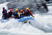 Rafting action on the Caning river ANWR. Alaska, USA